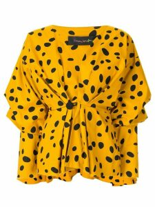 Romance Was Born Cheetah Minx blouse - Yellow