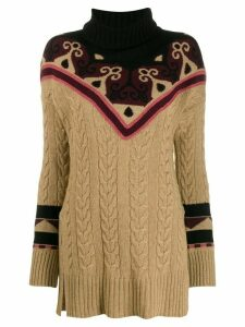 Etro rollneck cable knit sweater - NEUTRALS