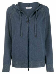 Peserico zip-up knit hoodie - Blue