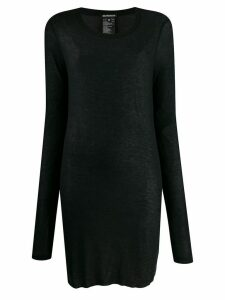 Ann Demeulemeester long-length thin knitted top - Black