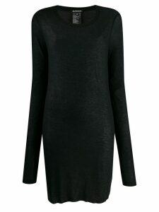 Ann Demeulemeester long-length thin knitted top - Black