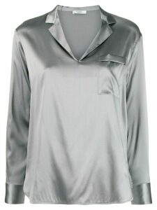 Peserico v-neck metallic-effect blouse - Grey