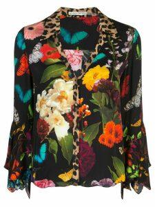 Alice+Olivia Randa trumpet sleeve shirt - Black
