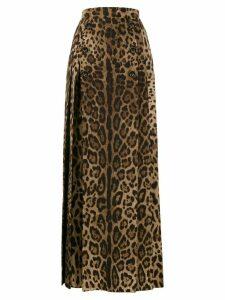Dolce & Gabbana full leopard print skirt - Brown