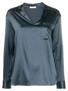 Peserico v-neck metallic-effect blouse - Blue