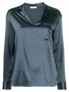 Peserico v-neck metallic-effect blouse - Blue