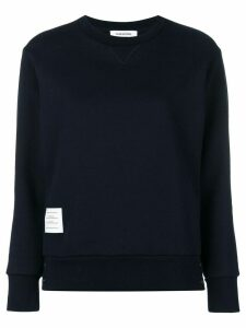 Thom Browne Felted Una Portrait Sweatshirt - Blue