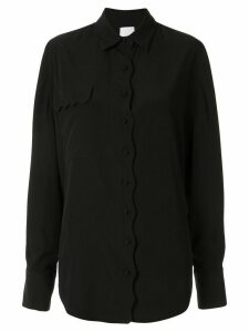 Acler Aviel scalloped shirt - Black