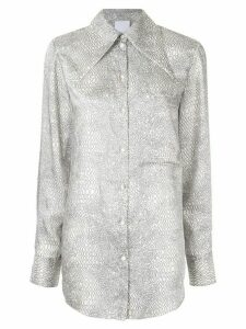 Acler Roscoe snakeskin print shirt - Grey