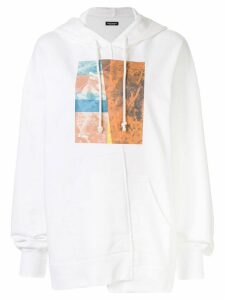 Christian Dada graphic-print hoodie - White