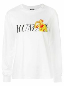 Christian Dada graphic-print jersey top - White