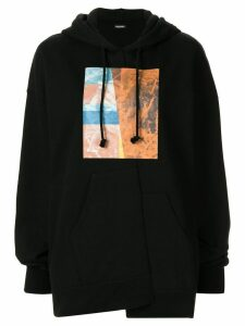 Christian Dada graphic-print hoodie - Black