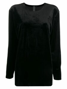 Norma Kamali oversized long-sleeve top - Black