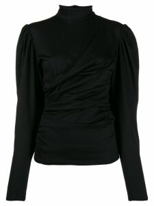 Isabel Marant ruched turtleneck jumper - Black