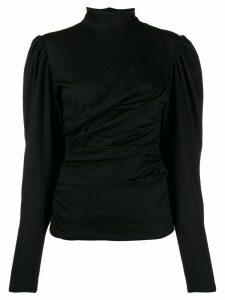 Isabel Marant ruched turtleneck jumper - Black