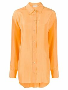 Nina Ricci loose-fit silk shirt - ORANGE
