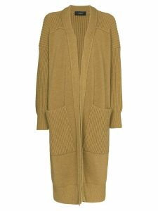 Joseph ribbed long-line cardigan - Brown