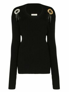 Bottega Veneta buckle detailed jumper - Black