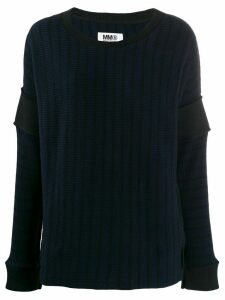 Mm6 Maison Margiela striped ribbed jumper - Blue