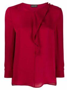 Emporio Armani frill-trim blouse - PINK