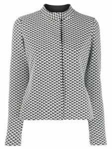 Emporio Armani geometric pattern top - Black