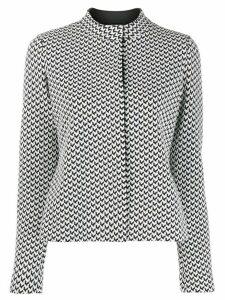Emporio Armani geometric pattern top - Black
