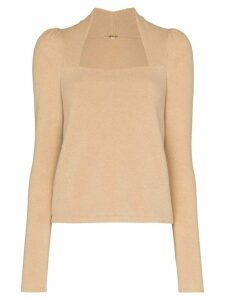 Johanna Ortiz square neck jumper - Brown