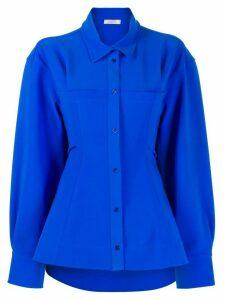 Nina Ricci oversized flared-hem shirt - Blue