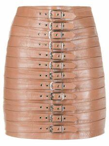 Manokhi Dita buckled mini skirt - PINK