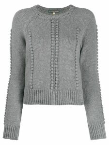 Alexa Chung cropped bobble knit jumper - Grey