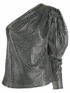 IRO round stud embellished blouse - Black