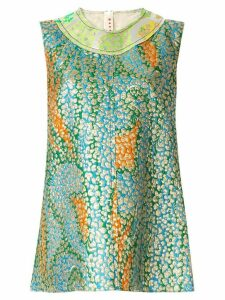 Marni textured patchwork sleeveless top - Green