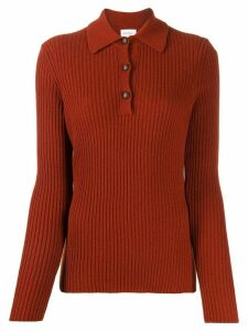 Salvatore Ferragamo buttoned ribbed knit sweater - Red