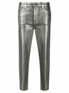 J Brand metallic-effect cropped trousers - Grey