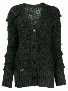 Mm6 Maison Margiela deconstructed cable knit cardigan - Grey