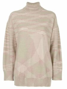 M Missoni relaxed-fit turtleneck jumper - PINK