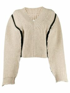 Maison Margiela exposed seam jumper - NEUTRALS