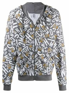 Moschino Teddy Bear print zipped hoodie - Grey