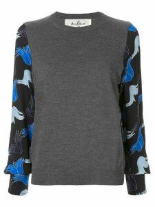 Marni hands print crew neck jumper - Grey