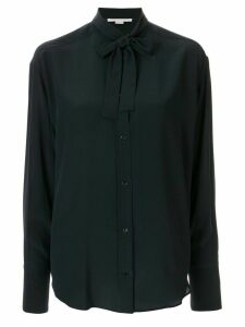Stella McCartney pussy-bow long-sleeve shirt - Blue