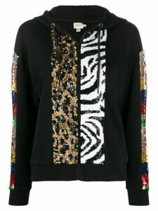 Alice+Olivia Barron sequin embellished hoodie - Black