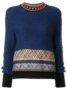 Mame Kurogouchi geometric pattern jumper - Blue