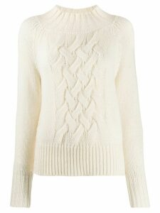 Drumohr chunky braided-knit jumper - White