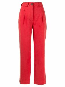 Mara Hoffman cropped chino trousers - Red