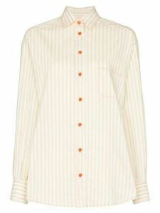 Sies Marjan button-down striped shirt - NEUTRALS