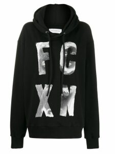 Faith Connexion stylized logo-print hoodie - Black