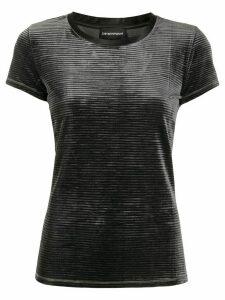 Emporio Armani ribbed effect t-shirt - Grey