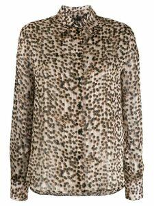 Pinko leopard print plissé shirt - Brown