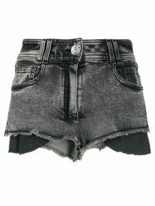 Balmain frayed hem shorts - Black