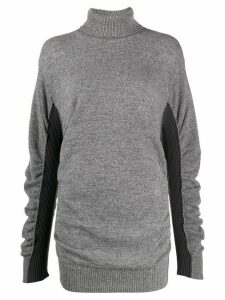 Mm6 Maison Margiela two-tone roll neck jumper - Grey